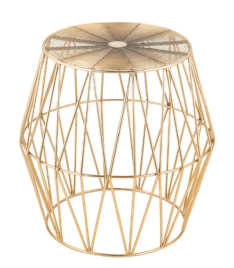 Gold Geo Side Table $30.00