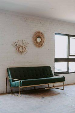 Luxe Velvet Sofa, Forest Green, 3 Seat $240.00